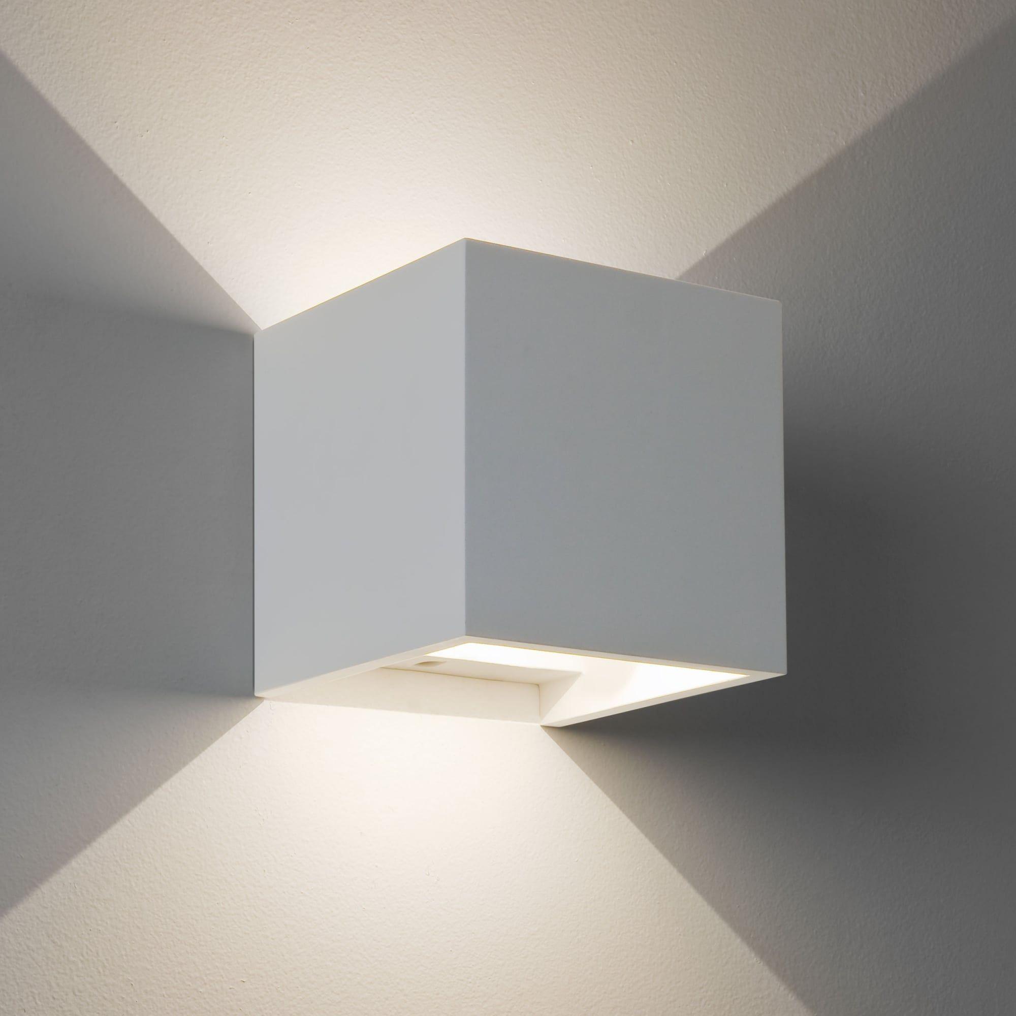 Astro Lights Pienza Led 2700k White Plaster Wall Light In 2020 Interior Wall Lights Wall Lights Plaster Wall Lights