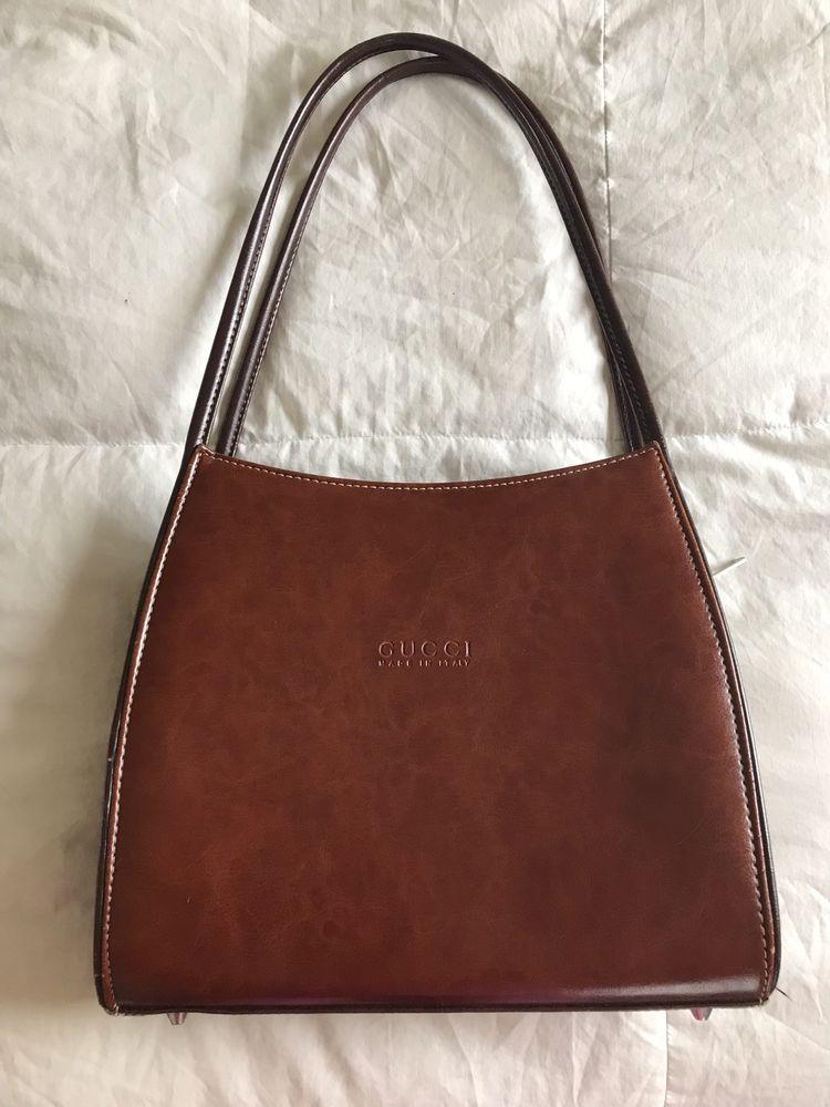 Vintage Gucci Handbag Dark Brown Fashion Clothing Shoes Accessories Womensbagshandbags Ebay Link Gucci Handbags Vintage Gucci Leather Bag