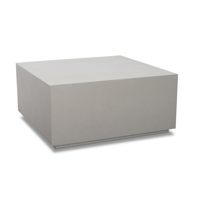 Orren Ellis Pocklingt Stone Concrete Coffee Table Wayfair Concrete Coffee Table Industrial Style Coffee Table Coffee Table