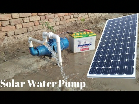 350 Install Solar Water Pump 12v Solar Pump With 150 Watt Solar Panel With Borewell Drill Complete Steps Y In 2020 Solar Water Pump Solar Panels Solar Power Panels