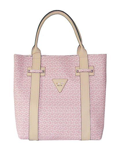 Guess Signature Bright Candy Large Tote Bag Handbag Purse Rose