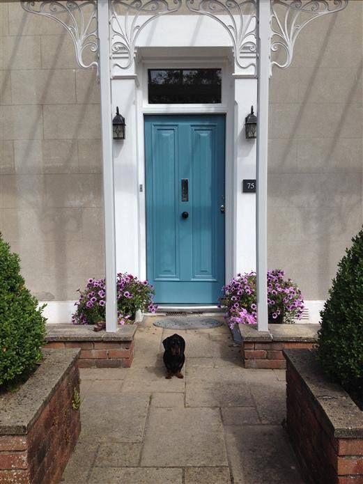 Front Door In Farrow And Ball Cook S Blue Farrow And Ball Have Released Images Of Fifteen Of The Exterior Door Colors Painted Front Doors Exterior Door Designs