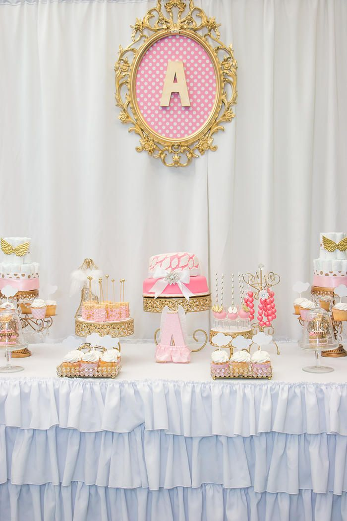 Pink And Gold Baby Shower Table Decorations  from i.pinimg.com