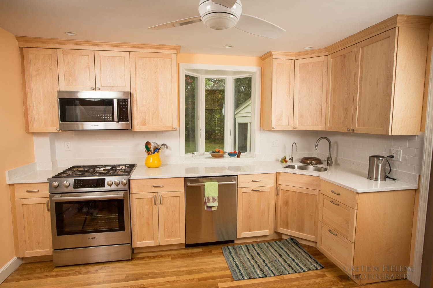 Natural maple is the star of this Milton kitchen | Shaker ... on Light Maple Cabinets With White Countertops  id=93764
