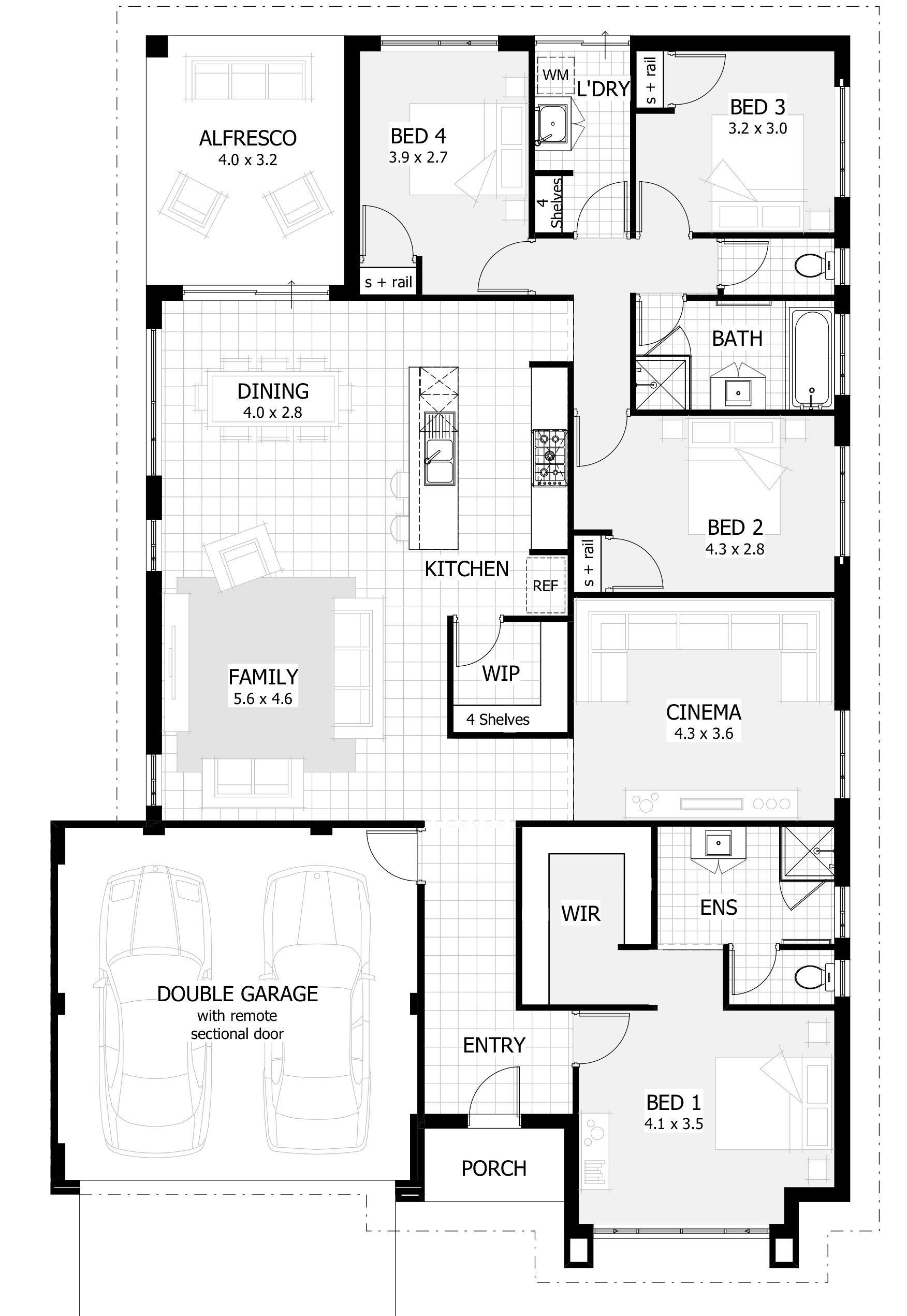 New Home Designs Perth Wa Single Storey Floor Plans More In 2020 Single Storey House Plans House Plans Australia Australian House Plans