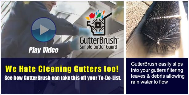 GutterBrush - Best gutter protection system for clean gutters