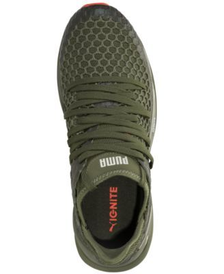 Puma Men s Ignite Limitless Netfit Casual Sneakers from Finish Line - Green  10.5 538c42b00