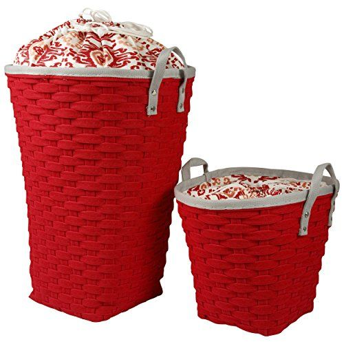 Tall Plastic Laundry Basket Laundry Hamper  Clothing Storage Bins With Handles  Laundry