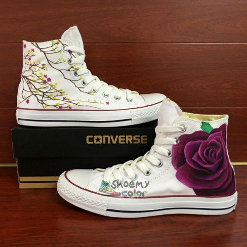 440ce78792894b Unique Gifts Women Converse Custom Rose Hand Painted Canvas Shoes
