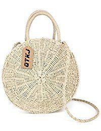 d56c43393d30  34.99 - Women Straw Summer Beach Bag Handwoven Round Rattan Bag Cross Body Bag  Shoulder Messenger Satchel - - labeltail.com  Women  Straw  Summer  Beach  ...