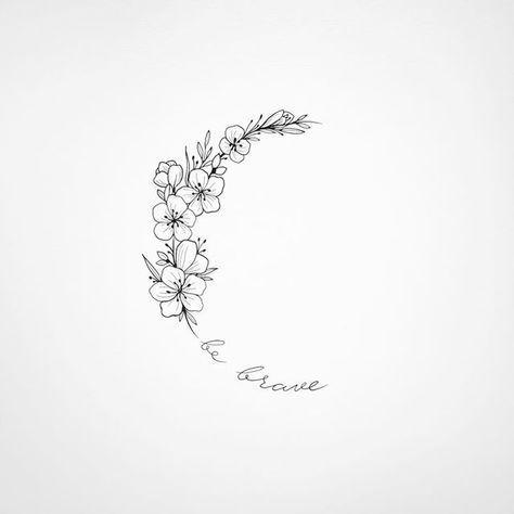 """Photo of 𝑯𝒆𝒍𝒆𝒏𝒂 𝑳𝒍𝒐𝒓𝒆𝒕 𝑨𝒓𝒕 𝑻𝒂𝒕𝒕𝒐𝒐𝒊𝒏𝒈 en Instagram: """"B e B r a v e • • #helenalloretart… #flowertattoos – tatuajes de flores"""