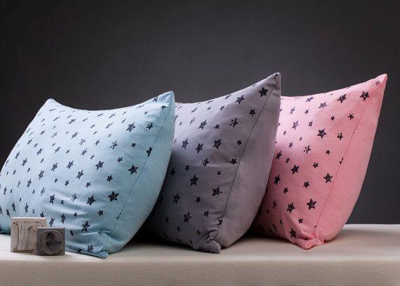 Stars - Children Pillow case. 100% Egyptian cotton jersey. Choose a color