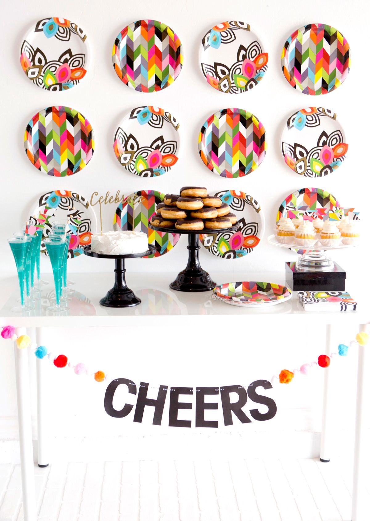 Fun Cocktail Party Ideas Part - 42: Adult Party Idea - Modern Cocktail Party - Bright Fun Patterns