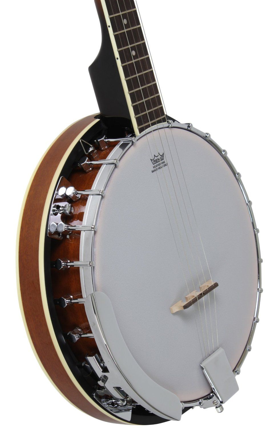 Amazon.com: 5-String Banjo 24 Bracket with Closed Solid Back and Geared 5th Tuner By Jameson Guitars: Musical Instruments
