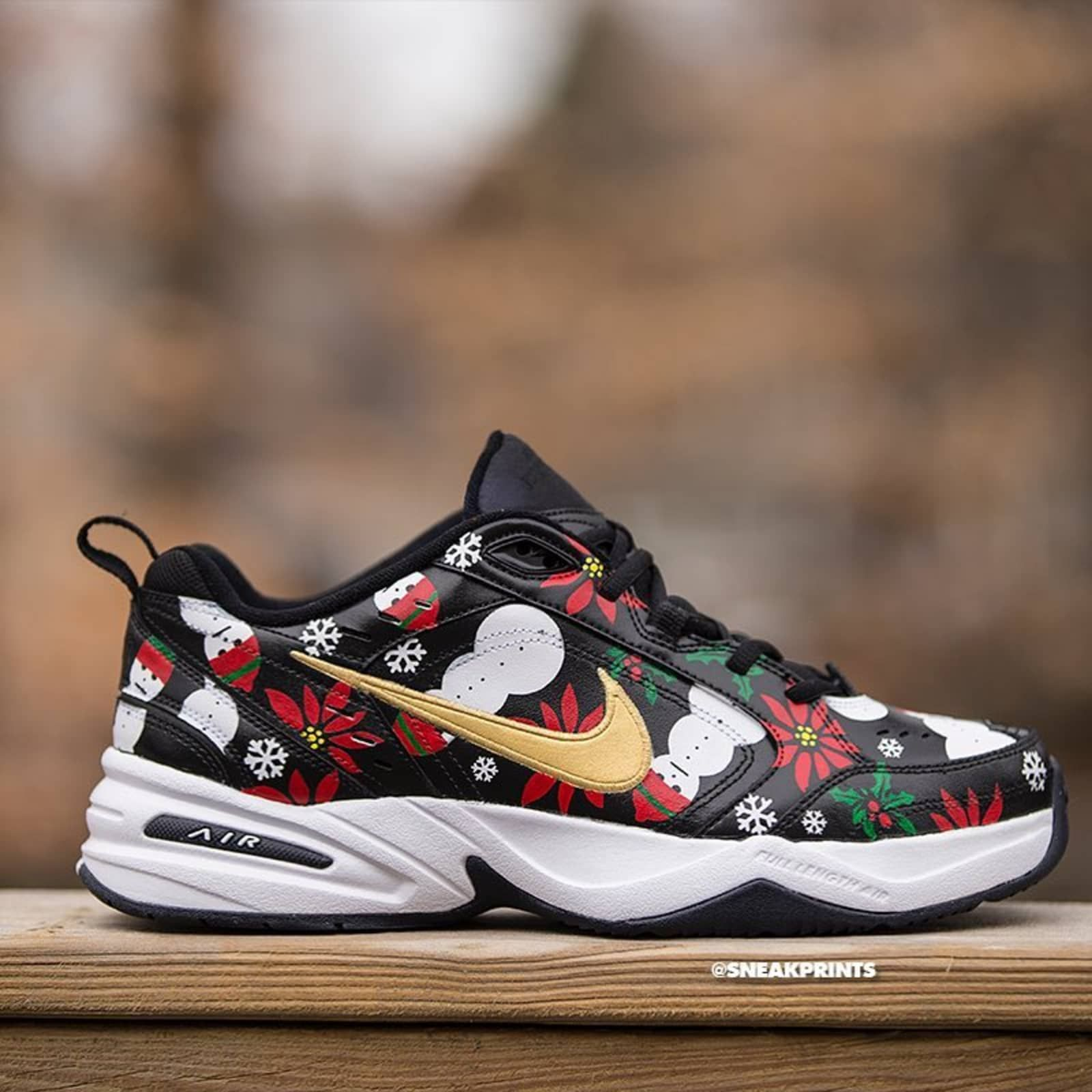 169b70c5d2 Nike Air Monarch Ugly Sweater Custom - Nike Monarch Customs | Sole Collector