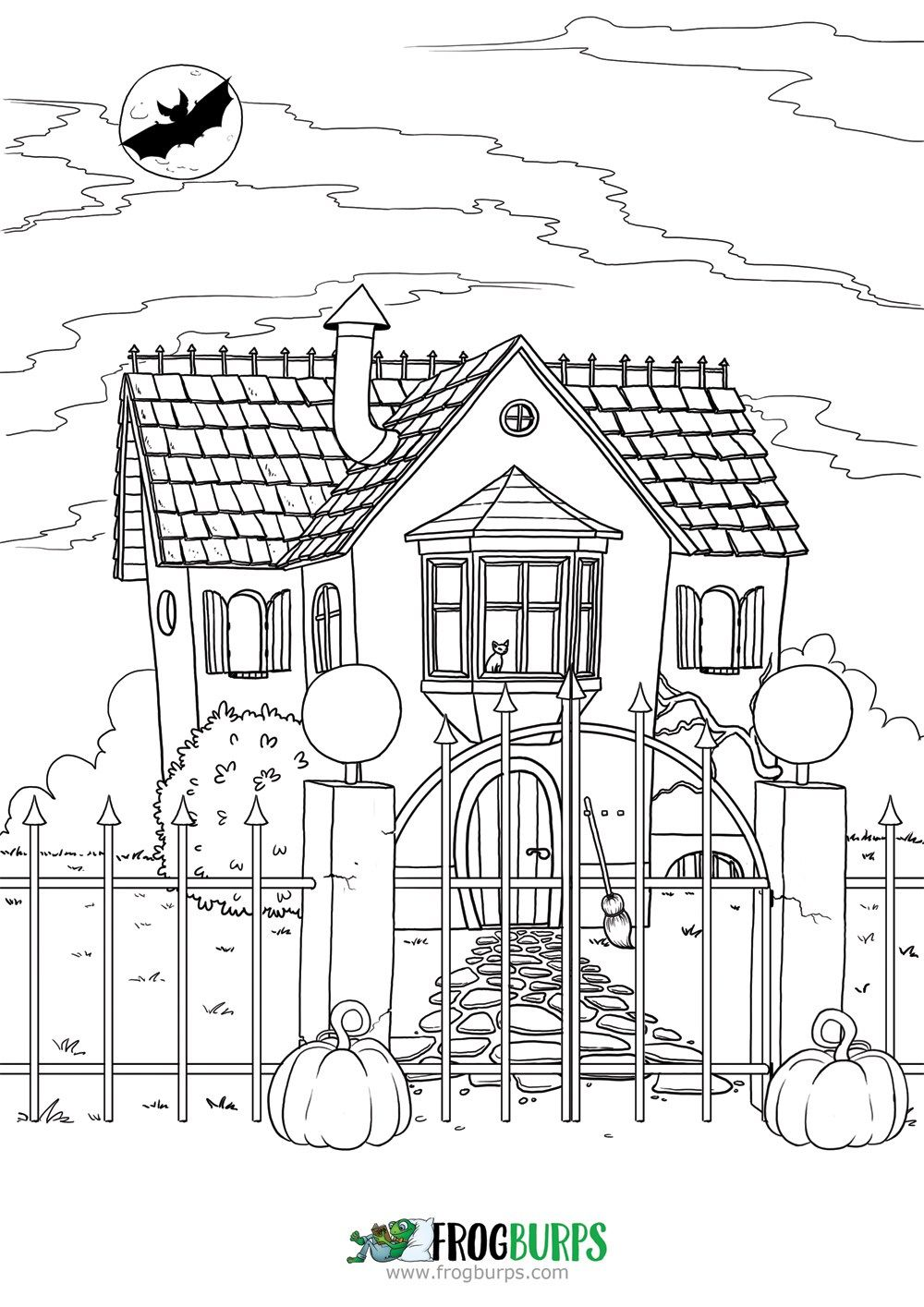 Halloween house coloring page free coloring pages for children coloringpages coloring children free freebies printables