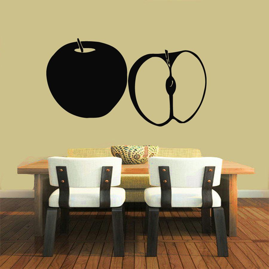 KW31611 Apple And Food Fruits Wall Decal Art Kitchen Room Decor Wall ...