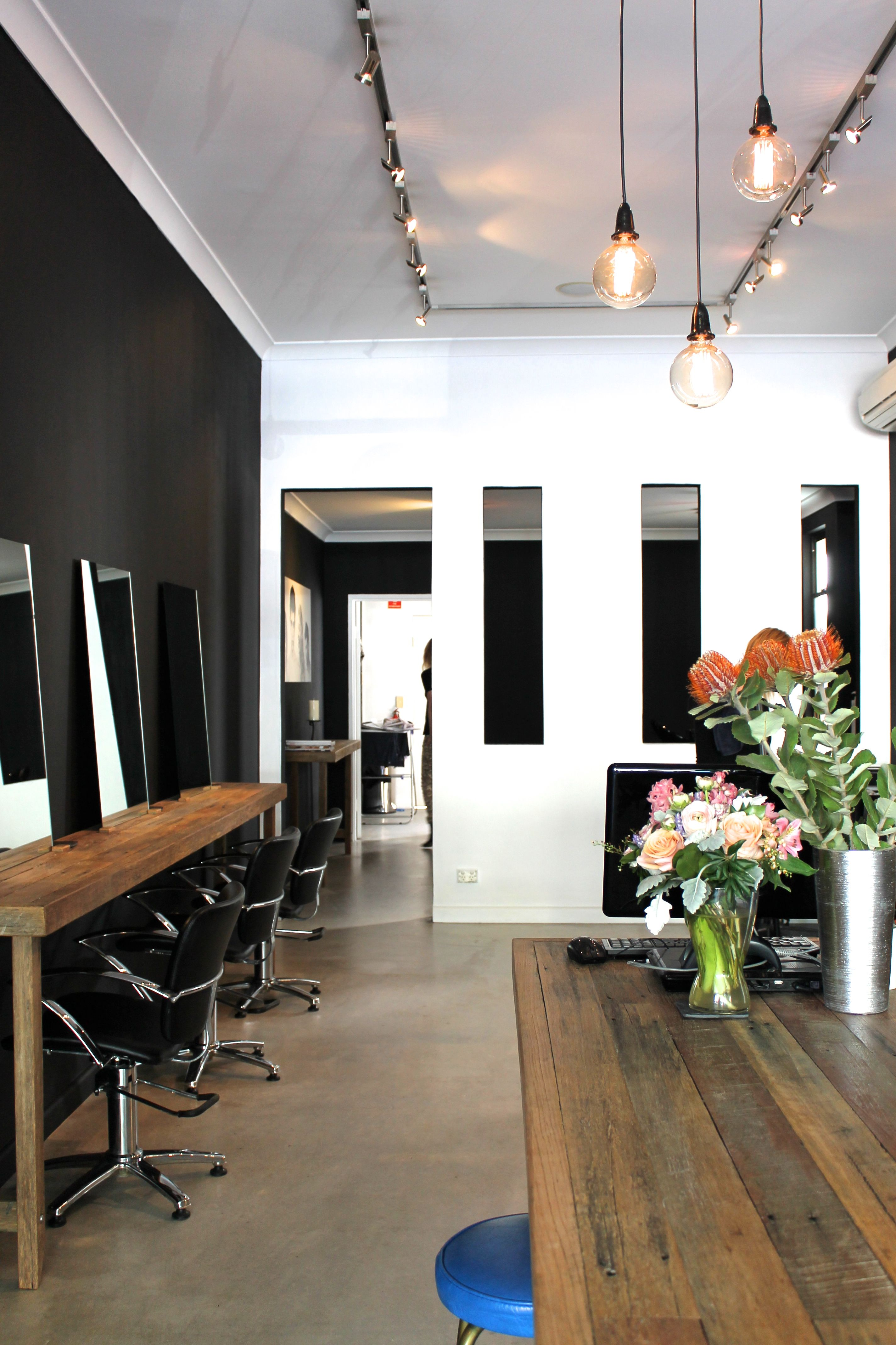salon design ideas pin industrial look interior for hair instyle rustic new