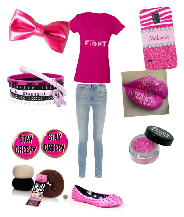 """""""cancer awareness month"""" by vyesica-yv on Polyvore featuring Alexander Wang, Privileged and Sleep In Rollers"""