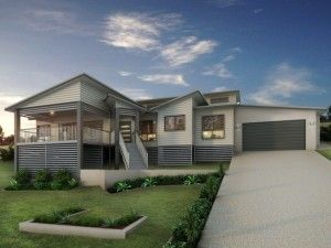 Modern Queenslander Split Level Homes Timber Slat Design