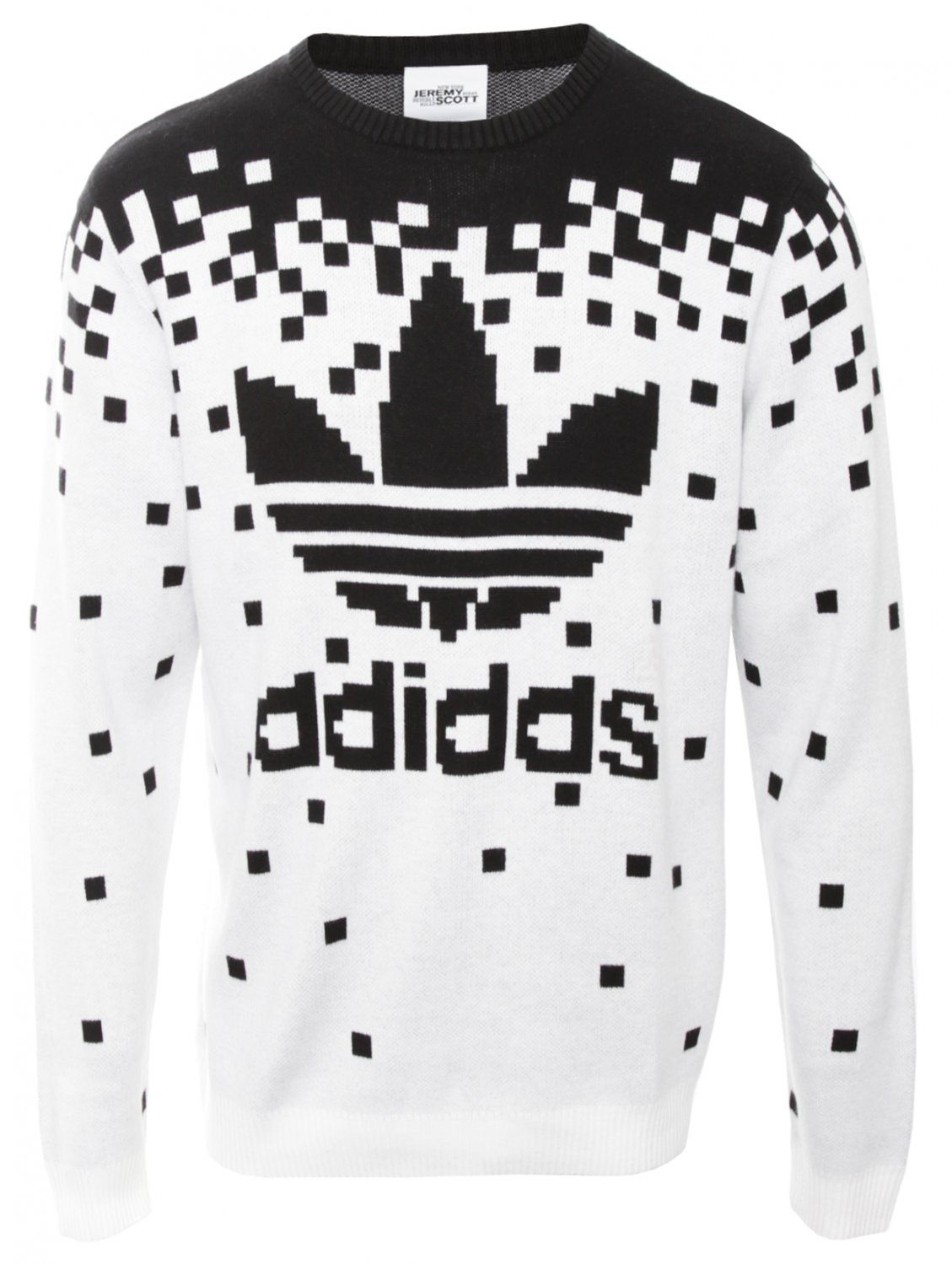 Pixel Knit Sweatshirt Black | Jeremy Scott for Adidas