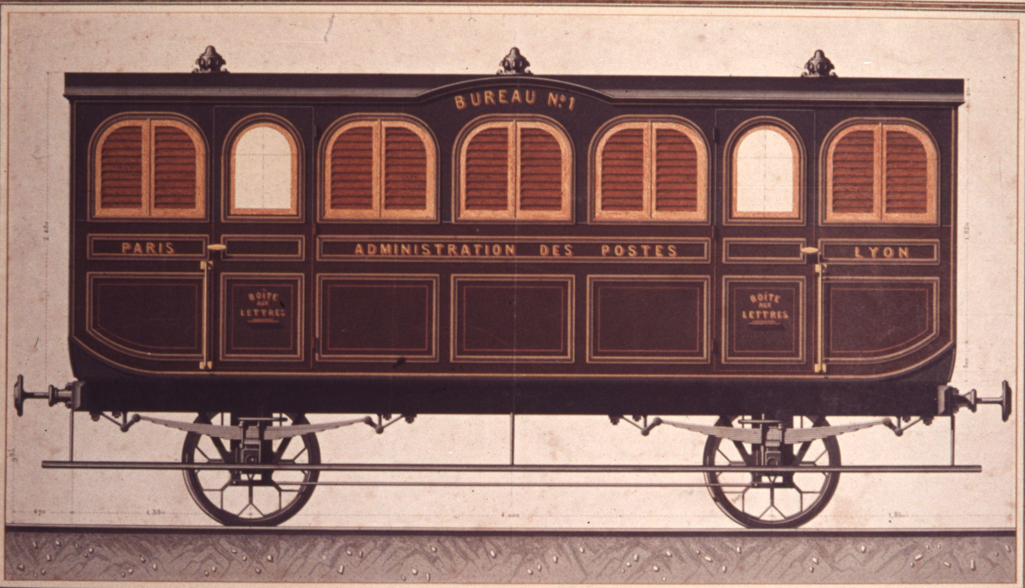 wagon poste paris lyon 1860 l 39 adresse mus e de la poste la poste dr maquettes et mod les. Black Bedroom Furniture Sets. Home Design Ideas