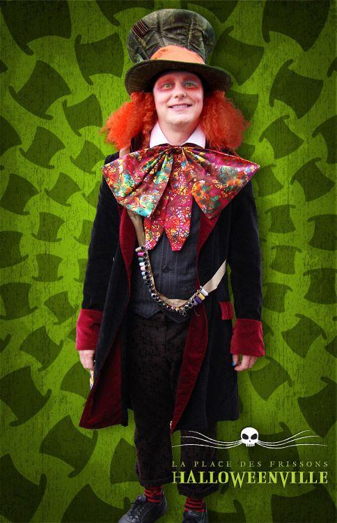 costume du chapelier fou alice au pays des merveilles pour l 39 halloween alice aux pays des. Black Bedroom Furniture Sets. Home Design Ideas