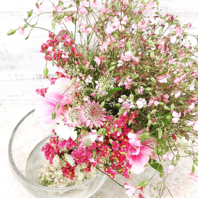 作品撮り~デザイン考案~ ・ ・ ・  ステム(持ち手)までお花でいっぱいのシャンペートルブーケ💐  ピンクのグラデーションで仕上げました🙂  Leçon du jour! Avec mon temps.  Thème est champêtre . C'est champêtre bouquet  Fleur classique nature ! ・ #present#cadeau#fleur#flowerarrangement#フラワーアレンジメント #お花屋さん #ピンクの花 #ピンク #シャンペトルブーケ #シャンペートル #自分の時間#写真好きな人と繋がりたい #お花好きな人と繋がりたい #お花のある暮らし #デザイン #花撮り人 #花束#ブーケ#champetrebouquet #bouquet #montemps#leçon#ideas#lesson#お花のある暮らし#植物#decoration #mariage#instaflower #flowerstagram#styling Suivez moi 👉🏻@cerisier_mignon