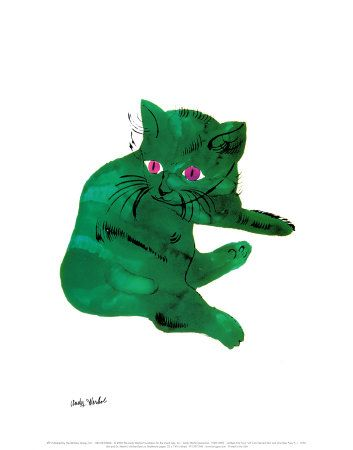Green Cat by Andy Warhol, of course its necessary :)  It's green AND it's a cat!
