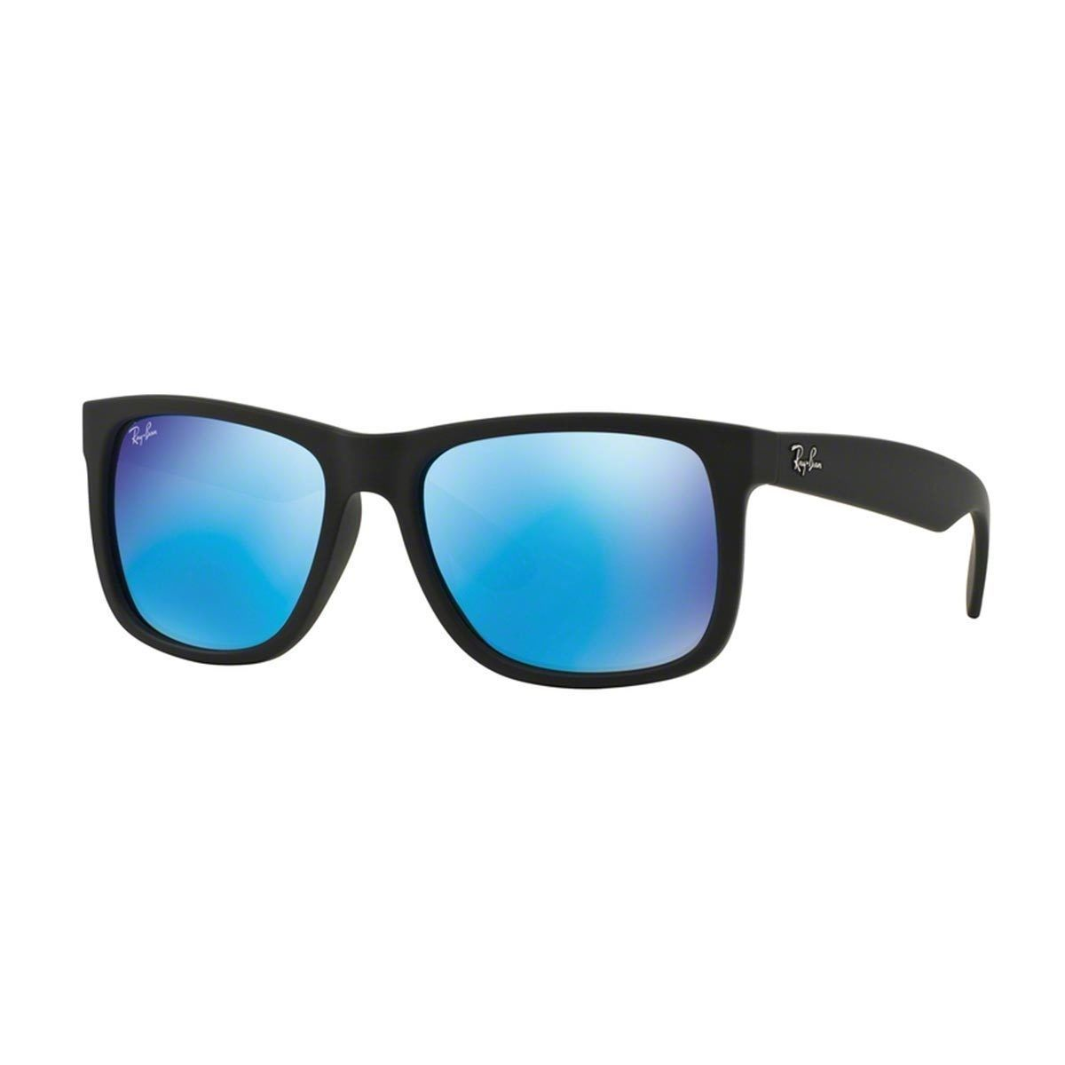 Óculos de Sol Ray Ban Justin Pretocom Lente Azul Espelhada   óculos escuros  masc   Pinterest   Óculos, Oculos de sol e Óculos escuros 1d5e0b5843