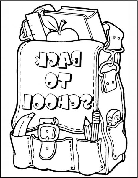 The Best first day of school coloring sheets - http://coloring ...