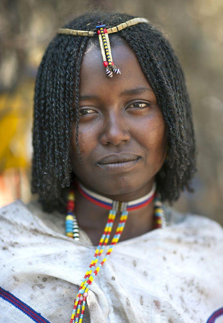 Africa | Young Kereyu / Karrayyu woman, at the Gada ceremony. Matahara, Oromia, Ethiopia | ©Eric Lafforgue