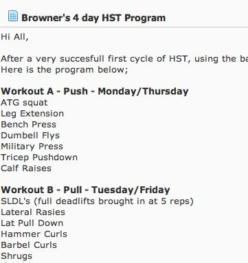 Hypertrophy Specific 4 Day Push/Pull Split | my fitness