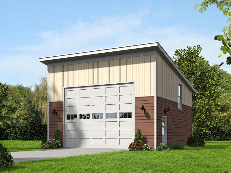 062G0059 Modern 2Car Garage Plan with Loft Studio