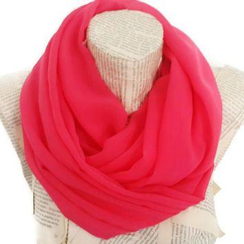 Dark pink infinity scarf , Loop , Infinity Scarf, Loop Scarf, Circle Scarf, Infinity, Accessories, Fuchsia Scarves
