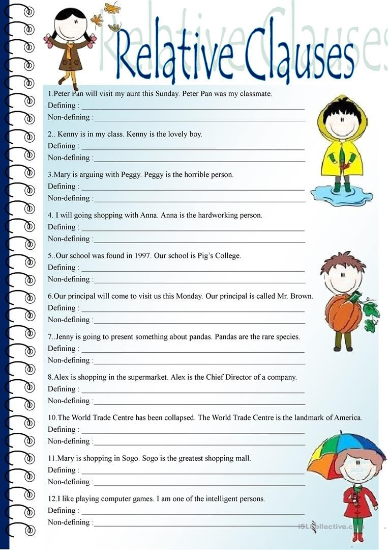 Relative Clauses Worksheet Free Esl Printable Worksheets Made By Teachers Relative Clauses Relative Pronouns Clause