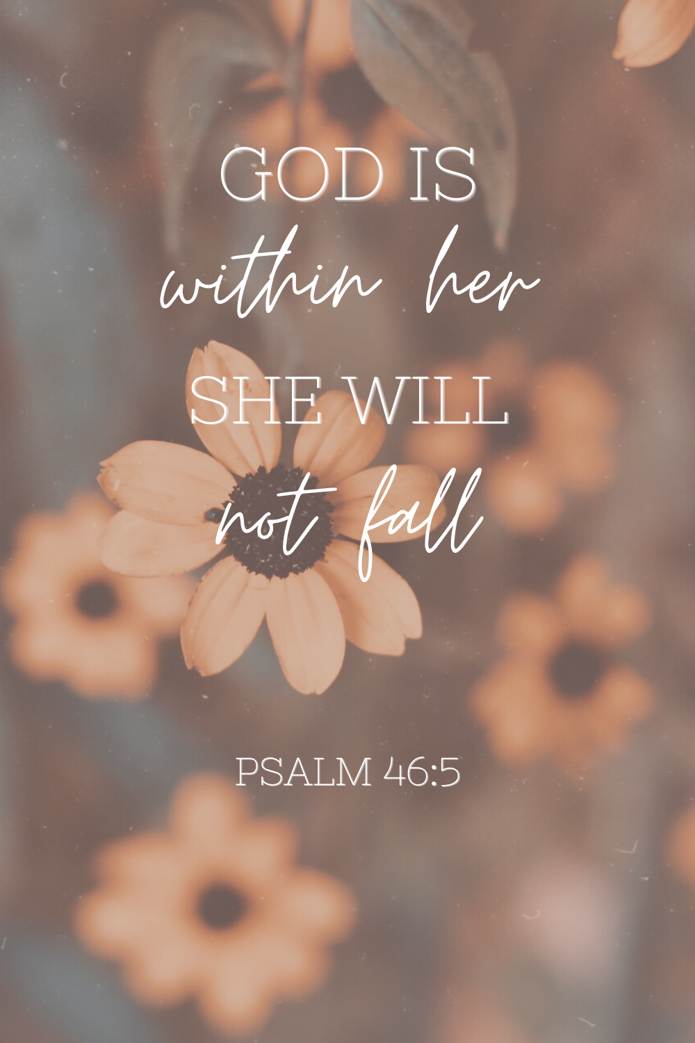 Psalm 46:5 God is within her she will not fall  Bible Verse iPhone Wallpaper  #bible #devotion #life