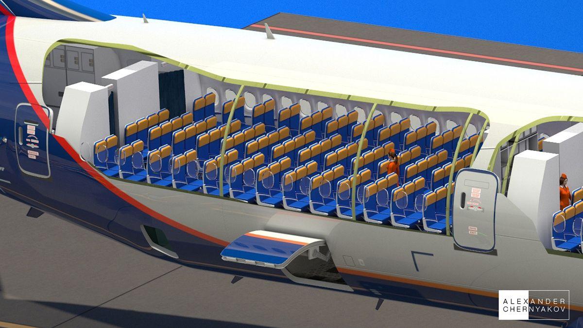 aeroflot boeing 777 cutaway on behance my works boeing. Black Bedroom Furniture Sets. Home Design Ideas