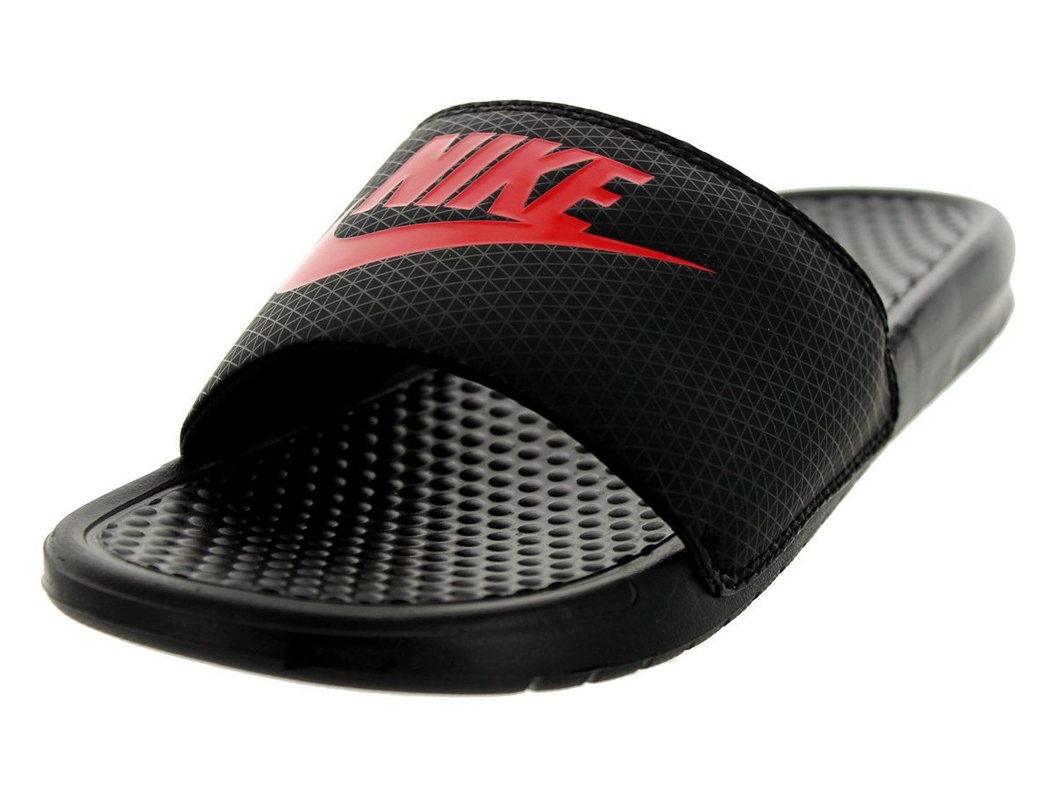 b160909a6bcd Amazon.com  Nike Men s Benassi JDI Black Challenge Red Sandal 8 Men US   Beach Shoes  Shoes