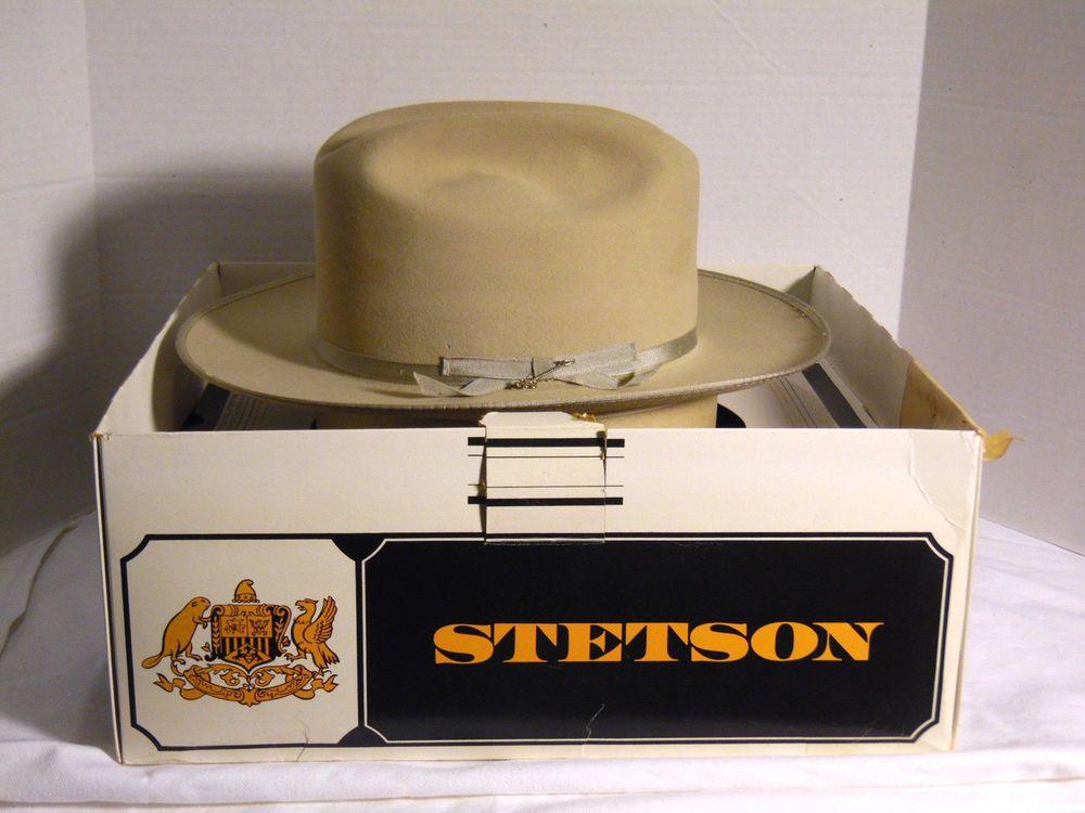 VIntage Stetson Open Road 3X Beaver Silverbelly Men s Hat 6 7 8  Stetson 1c47b0477a1