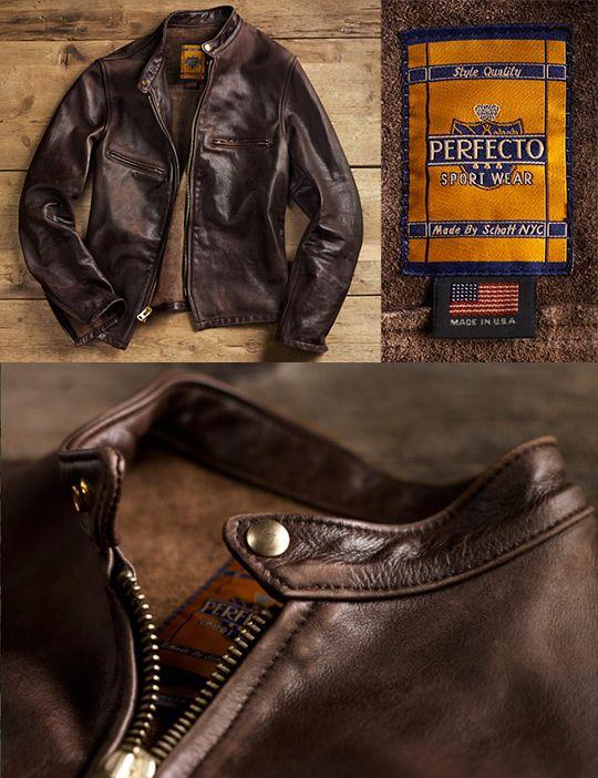 Alex K Anchordivision Schott Nyc Perfecto Vintage Cafe Cafe Racer Jacket Schott Jacket Leather