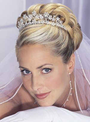 Wedding Hair Updo Tiara