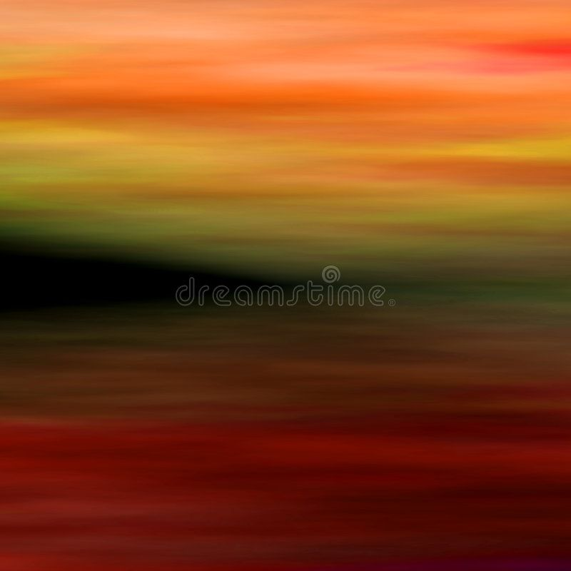 Abstract Landscape 3. Painted Abstract Background From