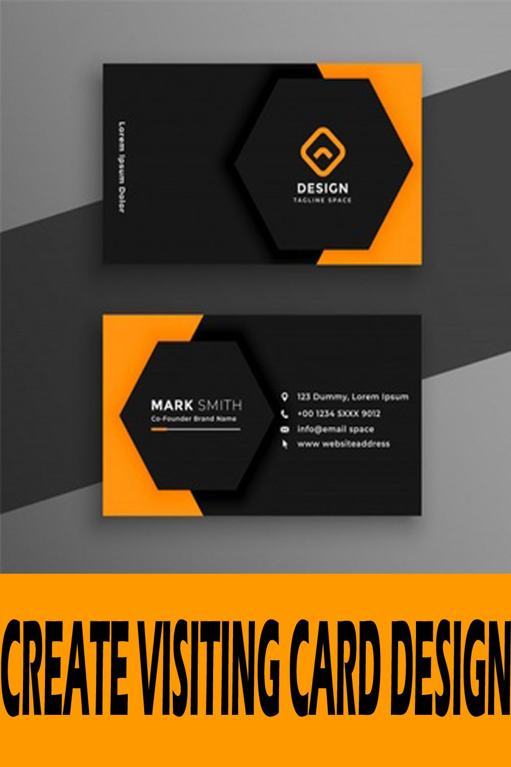 Picture Of A Business Card Visiting Card Design Free Download Free