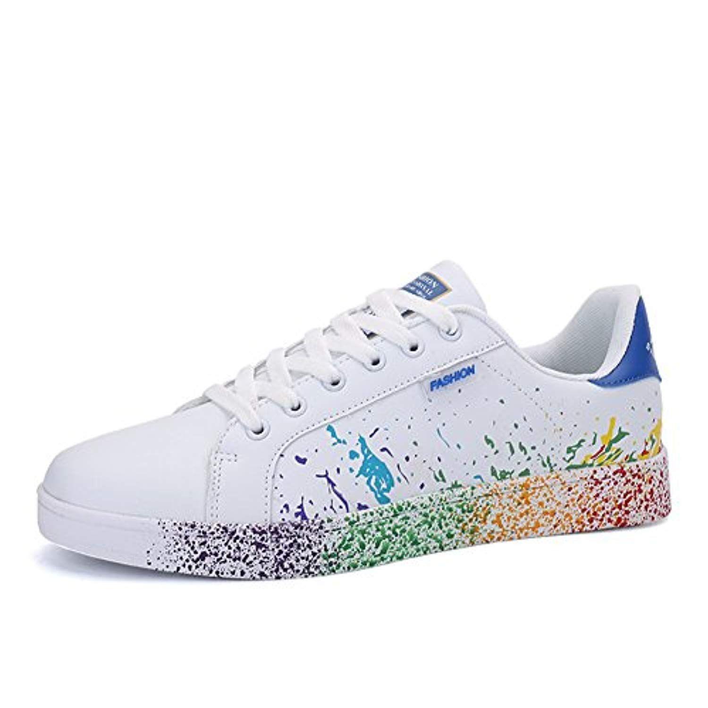 buy online 56fa8 12d04 JEDVOO Homme Femme Baskets Mode Classics Lacet Sneakers Basses Fitness  Sport Chaussures de Gymnastique 2019