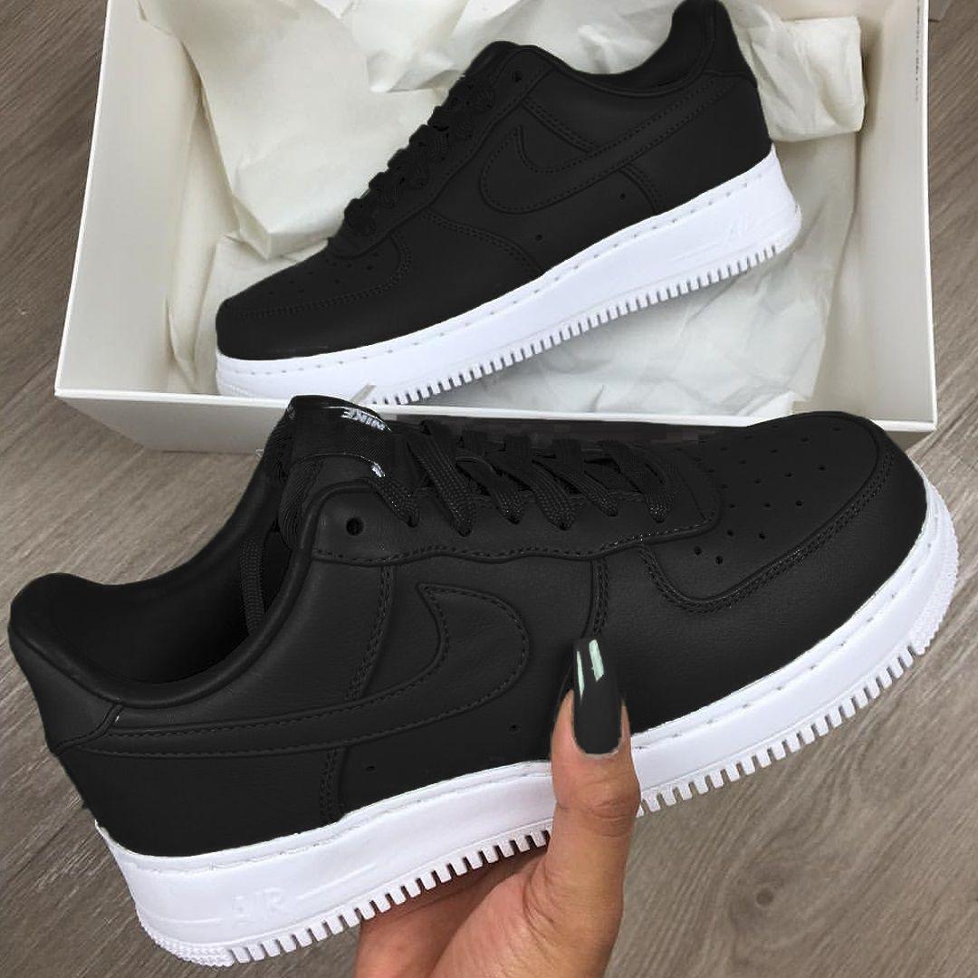 Black Air Force 1 Zapatos Tenis Para Mujer Zapatillas Mujer Tenis De Moda