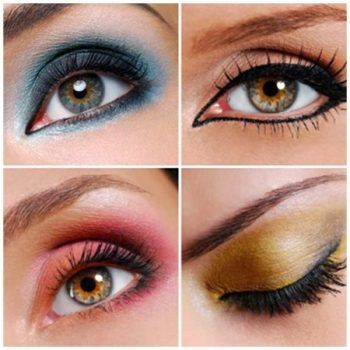 maquillaje ojos hundidos diversos colores