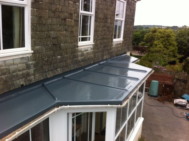 Fibreglass Roofing In Cornwall Pellow Flat Roofing Ltd In 2020 Fibreglass Roof Flat Roof Roofing