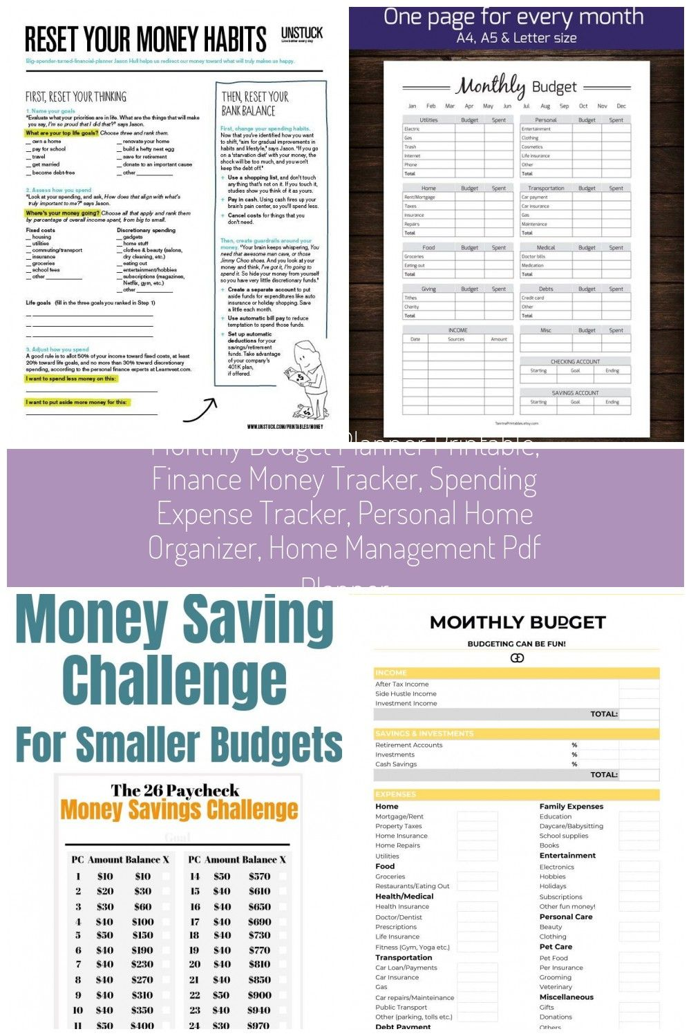 With the Monthly Budget Planner Printable you can keep