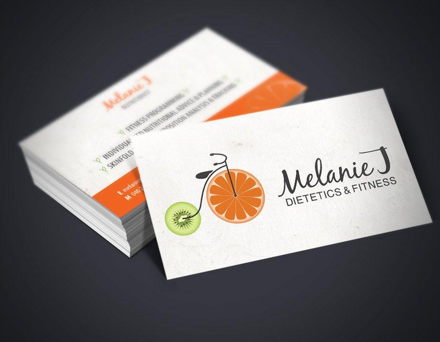 Super Cartão de visita nutricionista criativo | Design Gráfico  OF75